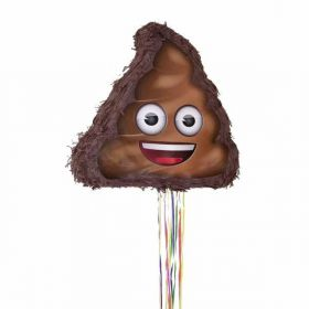 Poop Emoji Pull String Party Pinata