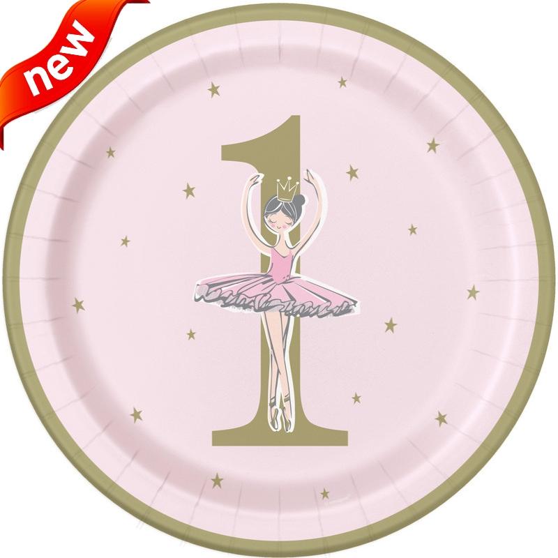Ballerina Pink & Gold 1st Birthday Party