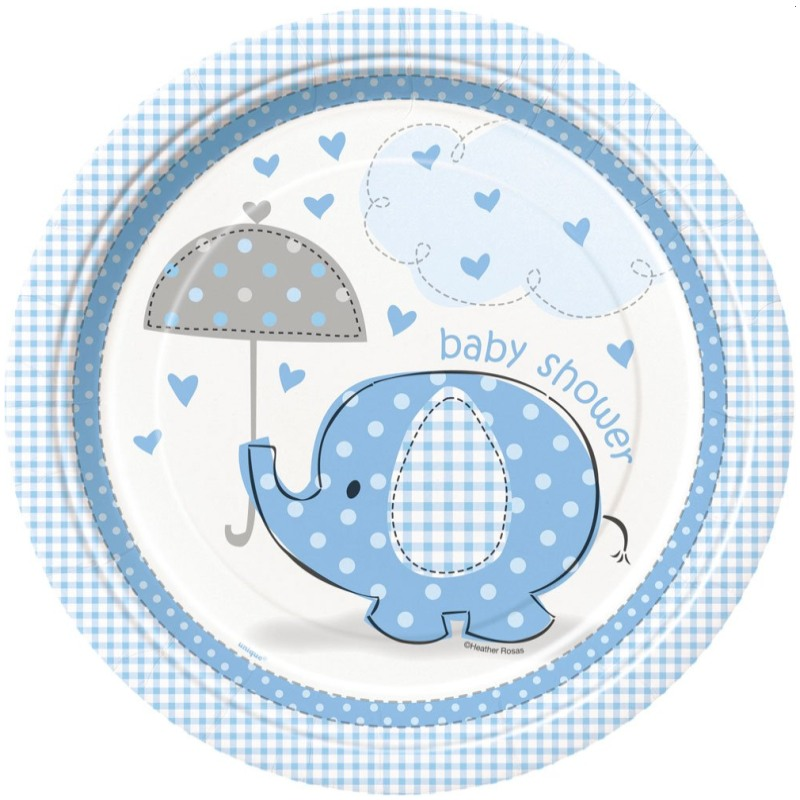 Umbrellaphants Boy Baby Shower