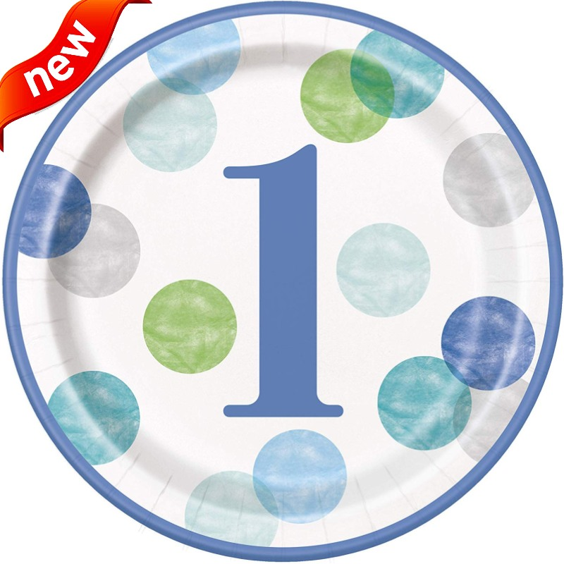 Blue Dots 1st Birthday Party