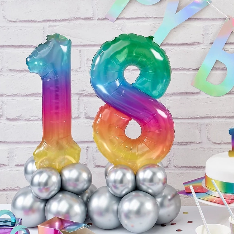 Air-filled Number Foil Balloons