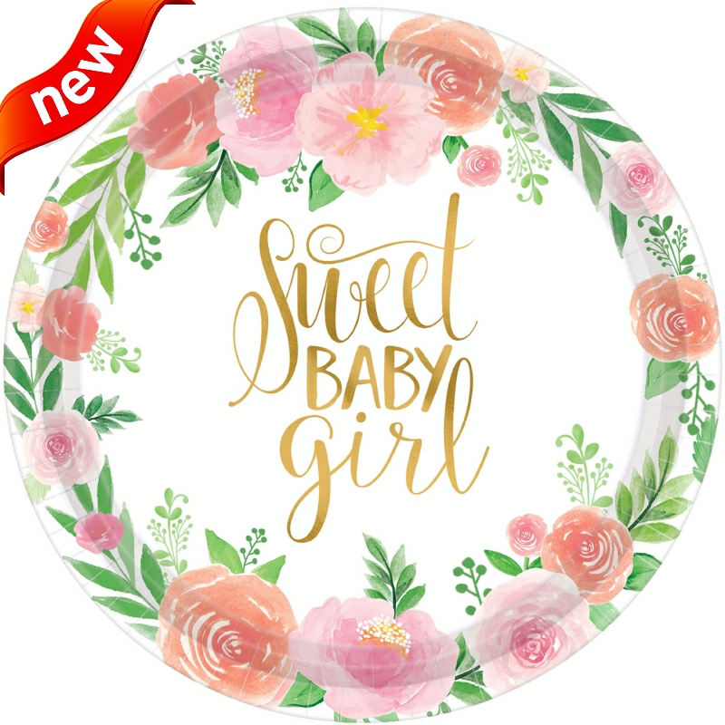 Floral Baby Shower Party Supplies