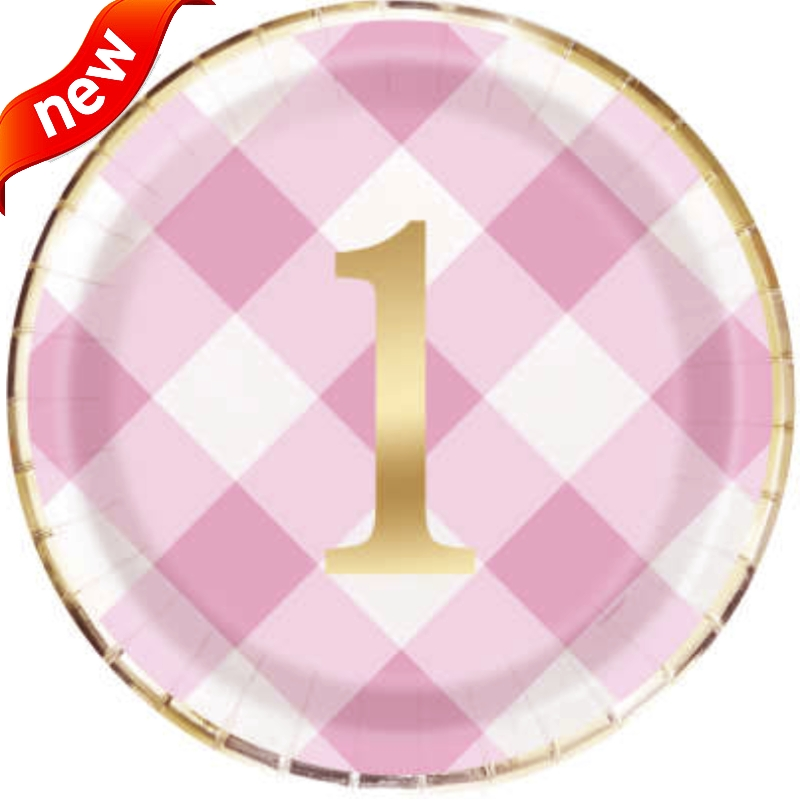Pink Gingham 1st Birthday Party