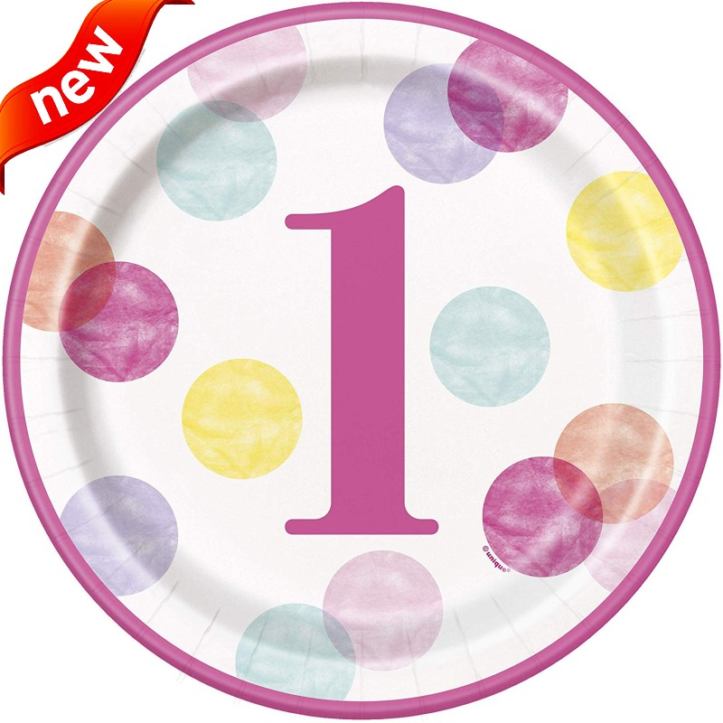 Pink Dots 1st Birthday Party