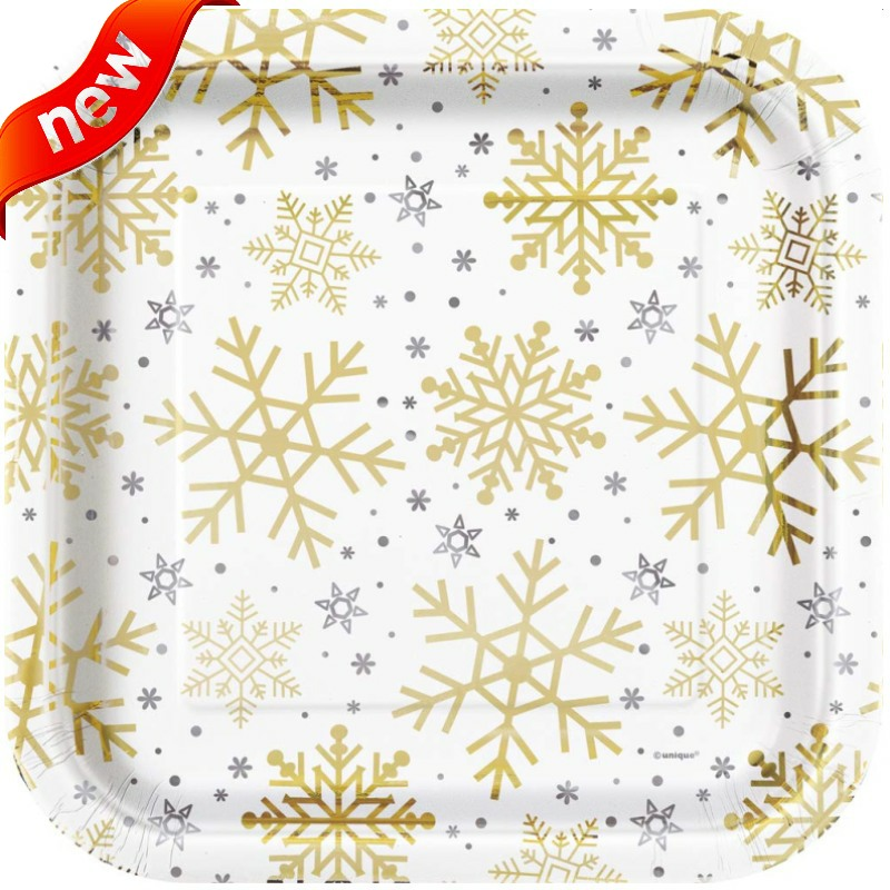 Silver & Gold Snowflakes Christmas Party Supplies
